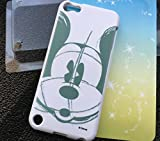 MobileCentral (Tm) iPod Touch 5 or 6 ; Grey Sketch Mickey Mouse Disney TPU Silicone Fitted Rubber Gel Case Cover for iPod 5th & 6th Generation
