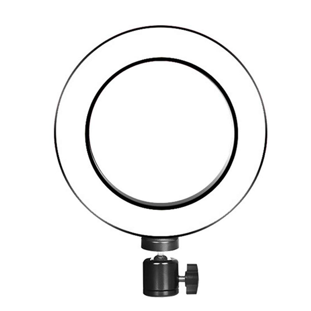Setrouyo Efficient LED Desk Lamp, Selfie Ring Light with Cell Phone Holder Stand for Live Stream/Makeup,