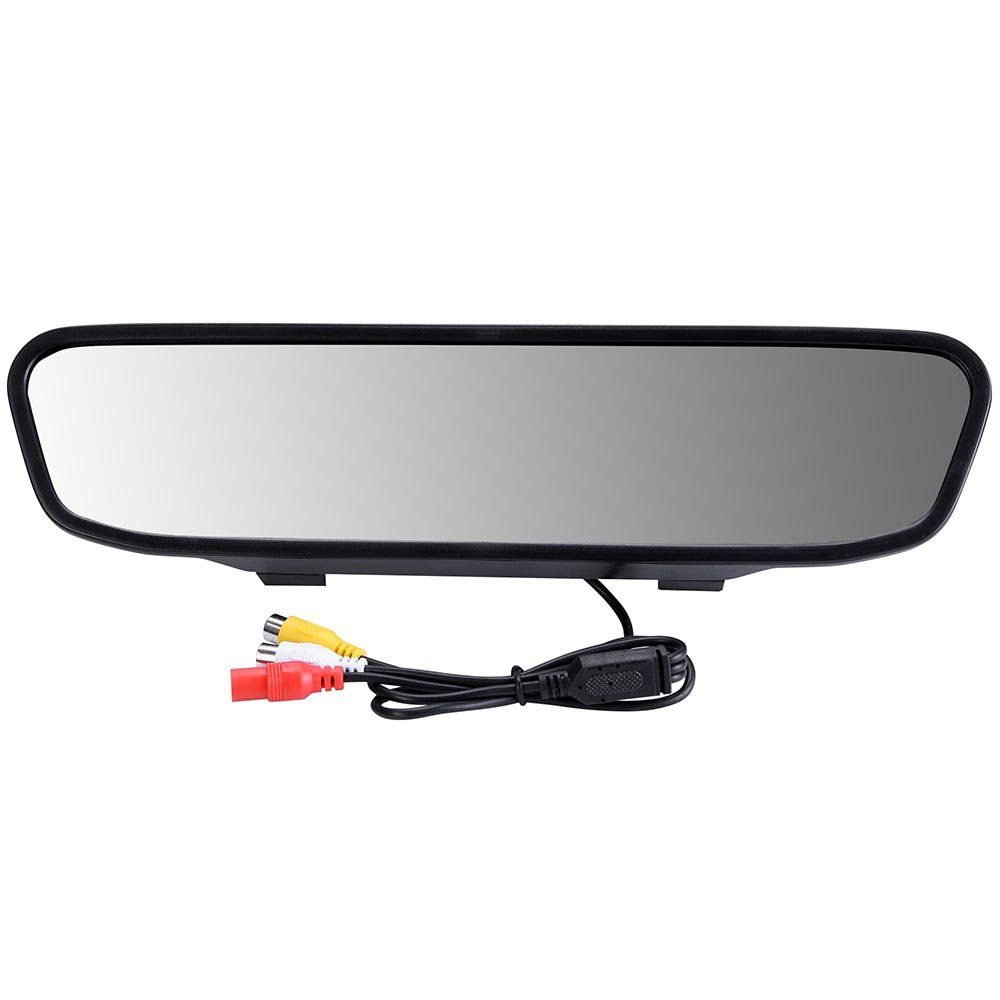 Yescom Car Rear View 43 Tft Mirror Monitor Display W Plcm18bc Wiring Diagram Waterproof Night Vision Camera Automotive