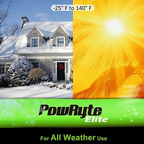 PowRyte Elite 300 PSI Hybrid (PVC/Rubber) Air Hose - 3/8-Inch by 100-Feet, 1/4-Inch MNPT Brass Ends by PowRyte (Image #2)