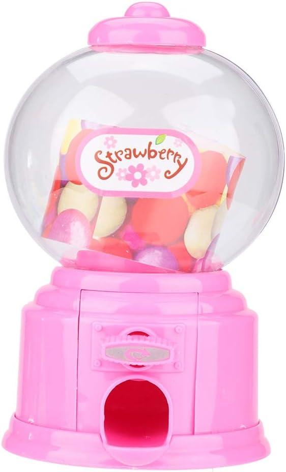 Zerodis- Máquina de Dulces, Máquina portátil de Dulces para niños Plástico Mini Gumballs Bean Dispenser Kids Kindergarten Gift(Rosado)