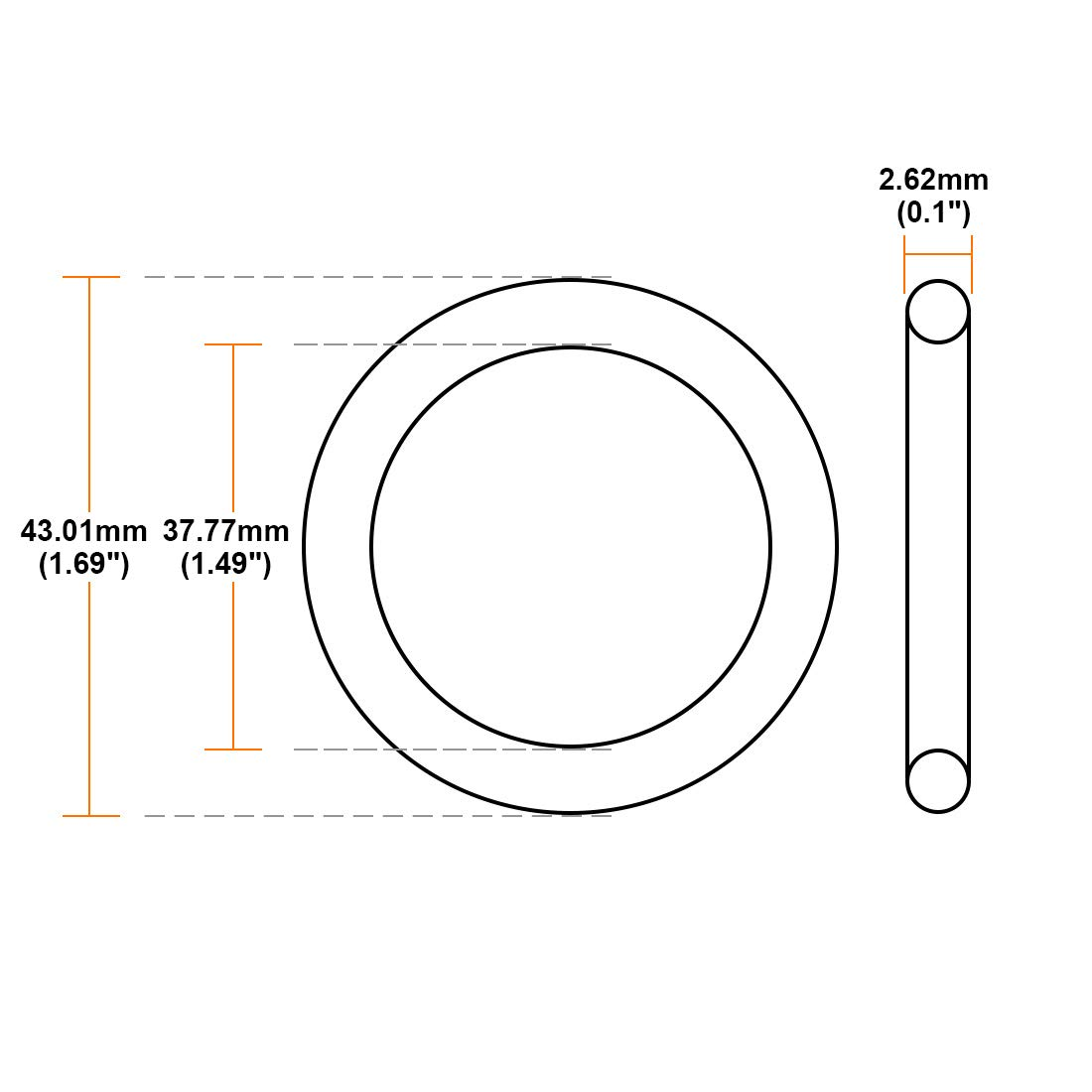 uxcell O-Rings Nitrile Rubber 28.24mm Inner Diameter 33.48mm OD 2.62mm Width Round Seal Gasket 10 Pcs