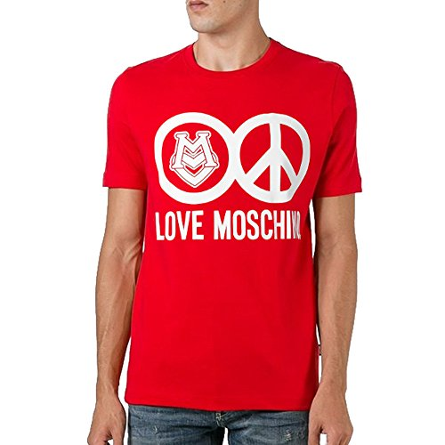 MOSCHINO Love Peace Circle Logo T-Shirt, Red (XL) by MOSCHINO (Image #7)