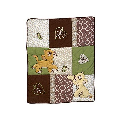 (Disney Lion King - GO Wild - Crib Applique Comforter Only - Simba &)