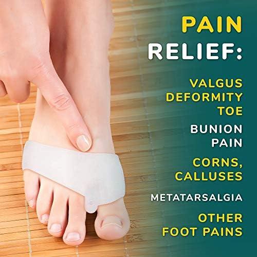 VILLINI Bunion Corrector Splint Big Toe  Gel Pads  Orthopedic Corrector Brace Pads  Metatarsal Pads
