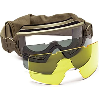 Smith Optics Elite Outside the Wire Asian Fit (OTW) Goggles, Clear/Gray/Yellow, Tan 499
