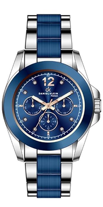 Reloj Daniel Klein Azul en Acero Bicolor Reloj para mujer