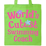 Inktastic - Swimming Coach Worlds Cutest Tote Bag Lime Green 1bff2