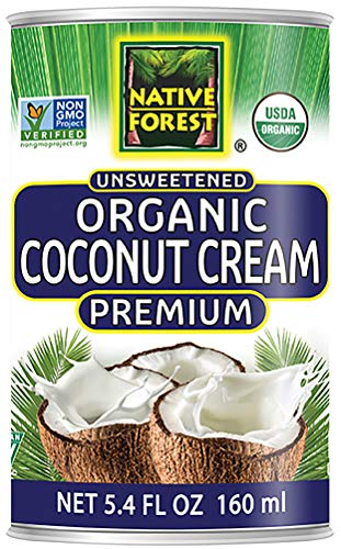 Native Forest Organic Premium Coconut Cream Unsweetened, 5.4 Ounce Cans (Pack of 12) (Best Vegan Whipped Cream Recipe)