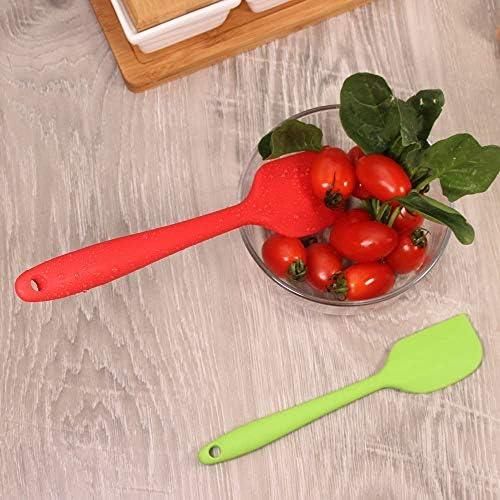 Fiyuer teigschaber Set silikon 12 Pcs spachtel Spatula kuchenschaber tortenspachtel gummispatel schaber hitzebeständig Mini spatel Set für Kochen und Backen