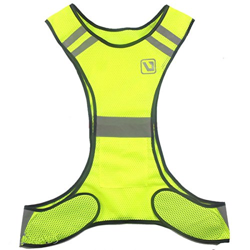 BININBOX Chaleco de seguridad de alta visibilidad con bandas reflectantes para Running Ciclismo caminando motocicleta en...