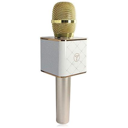 628278e5f07 FidgetGear Q7 Wireless Handheld KTV Karaoke Microphone Mic Speaker for Phone
