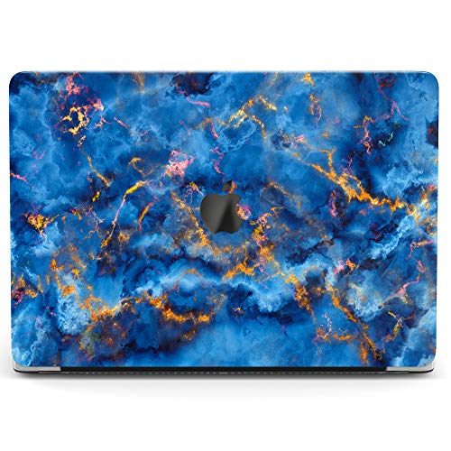 Wonder Wild Case for MacBook Air 13 inch Pro 15 2019 2018 Retina 12 11 Apple Hard Mac Protective Cover Touch Bar 2017 2016 2015 Plastic Laptop Blue Gold Painting Abstract Watercolor Sky Lightning]()