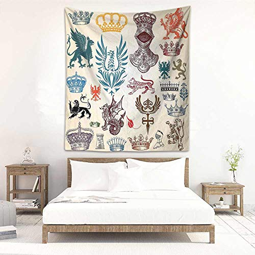 (Godves Wall Tapestry for Bedroom Medieval Collection of Medieval Renaissance Icons Retro Style Baroque Classical Art Print Stylish Minimalist Fresh Style 57