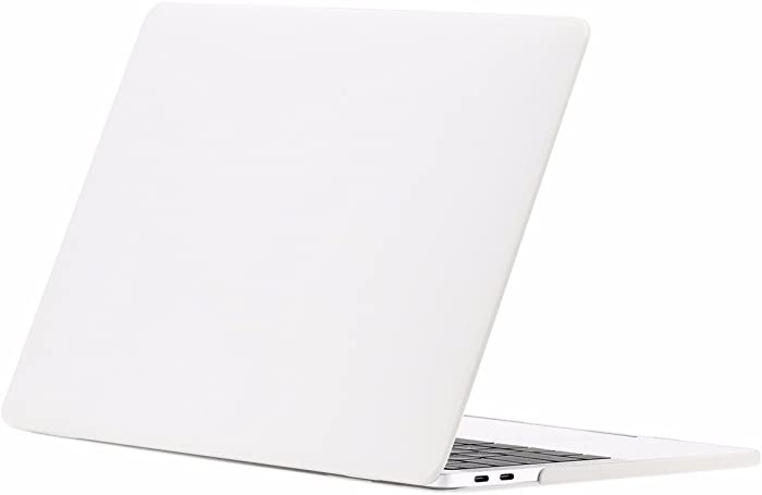 "TOP CASE MacBook Pro 13 inch Case 2019 2018 2017 2016 Release A2159 A1989 A1706 A1708, Classic Series Rubberized Hard Case Cover Compatible MacBook Pro 13"" W/WO Touch Bar – Satin White"