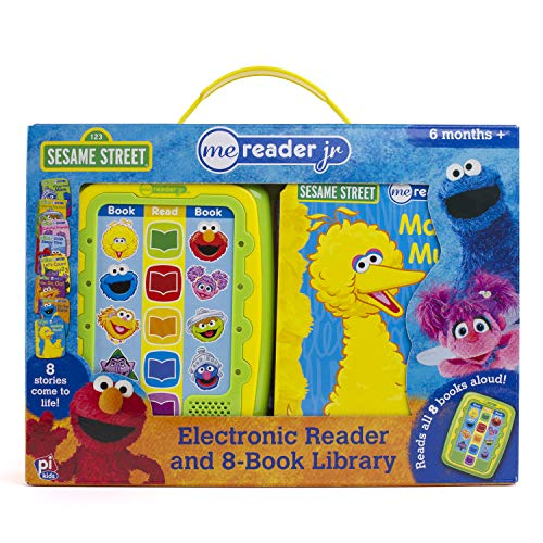 - Sesame Street Me Reader Jr Electronic Reader and 8 Book Library - PI Kids
