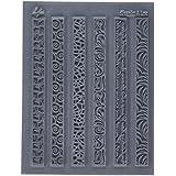 Placa con textura para /álbumes de recortes Melt Art SUT-34759 color gris