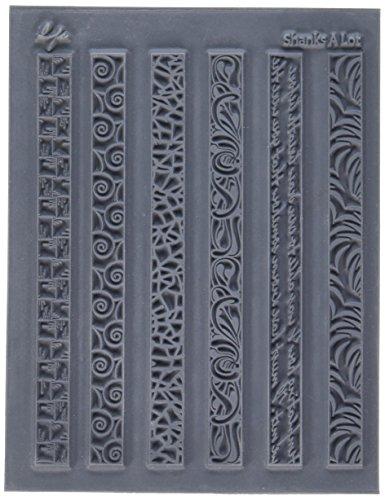 Great Create LP527-395 Lisa Pavelka Individual Texture Stamp, 4.25 by 5.5-Inch, Shanks a Lot, 1 Per (Clay Texture Tools)