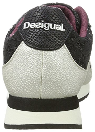Black Low Desigual Shoes Women's Lace Galaxy Black Sneakers Top Black CxUOzwqx