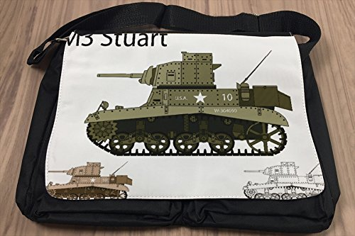 Borsa Tracolla Arma Serbatoio M3 Stuart Stampato