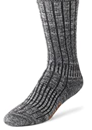 Wigwam Men\'s Merino/Silk Hiker Socks, Charcoal, Large