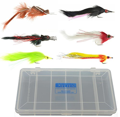 Pike & Musky Fly Collection: 6 Flies + Fly Box