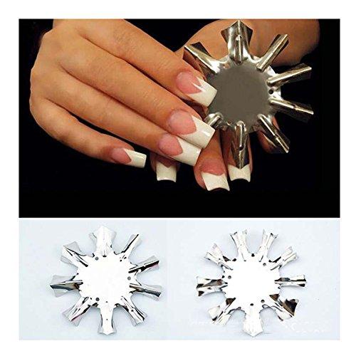 EnCoCo 9 Sizes French Nail Art Manicure Edge Nail Cutter Tool Nail Gel Easy Cutters French Nail Smile Line Tool