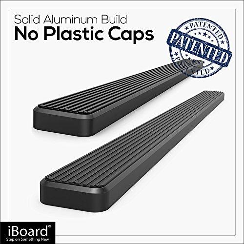 "APS IBoard Running Boards 4"" Black Custom Fit 2007-2018"