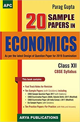 20 Sample Papers in Economics Class XII 2018-19 Session