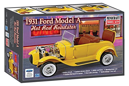 Minicraft Model Kits Kids 31 Ford Model A Hot Rod Roadster Kit by Minicraft Model Kits