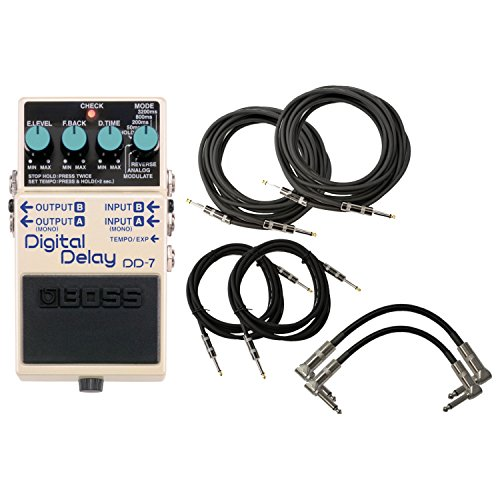 Boss DD-7 Digital Delay DD7 w/6 - Guitar Digital Boss Delay Dd7