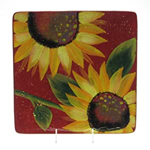 Sun Blossom Square Platter 12.5 inches by Julie Ueland - Certified International Dinnerware