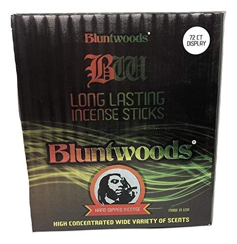 BLUNTWOODS Blunt Woods 手染め お香ディスプレイ (72カウントアスト) 合計864 お香スティック B07NV1JDL8