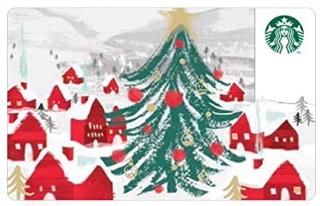 starbucks christmas holiday merry christmas red house tree card 2016 limited edition new collectible gift starbucks - Starbucks Merry Christmas
