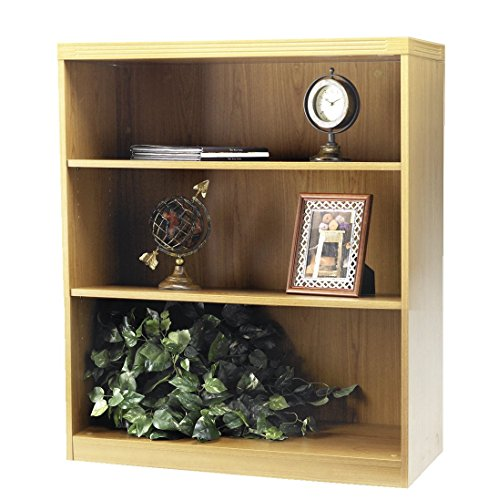 Mayline Aberdeen Series 3 Shelf Bookcase with 1 Fixed Shelf,