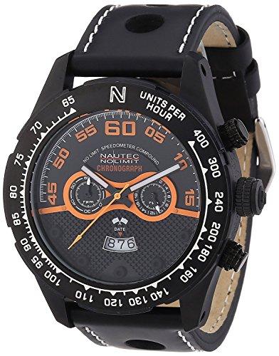 Nautec No Limit MZ QZ/LTIPBK - Men's Watch, Leather, Color: Black