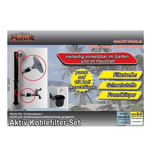 Mauk 1848 - Filtro Adicional para la Ducha Solar Filtro de carbón Activo Adicional, Blanco