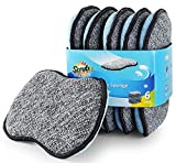 Multi-Purpose Scrub Sponges for Kitchen by Scrub- it - Non-Scratch Microfiber Sponge Along with Heavy Duty Scouring Power - Effortless Cleaning of Dishes, Pots and Pans All at Once(6 Pack, Large)
