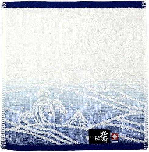 마루신(Marushin) 환마코토 핸드 타올 미니 타올 충물결 블루 일본제(MADE IN JAPAN) 이마바리 인정 타올 0515016400
