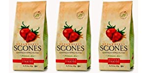 Sticky Fingers Bakeries Strawberry Scone Mix, 15-Ounces (Pack of 3)