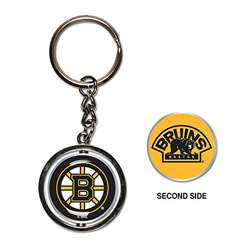 Boston Bruins Keychain - NHL Boston Bruins Spinner Key Ring