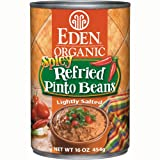 Eden Organic Refried Spicy Pinto Beans, 16-Ounce Cans (Pack of 12)