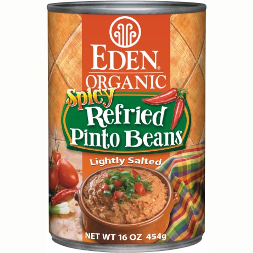 Eden Organic Refried Spicy Pinto Beans, 16-Ounce Cans (Pack of 12) by Eden