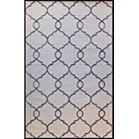 Champo Carpets Edie N39865/9402, Handtufted Area Rug 8x10 Ivory