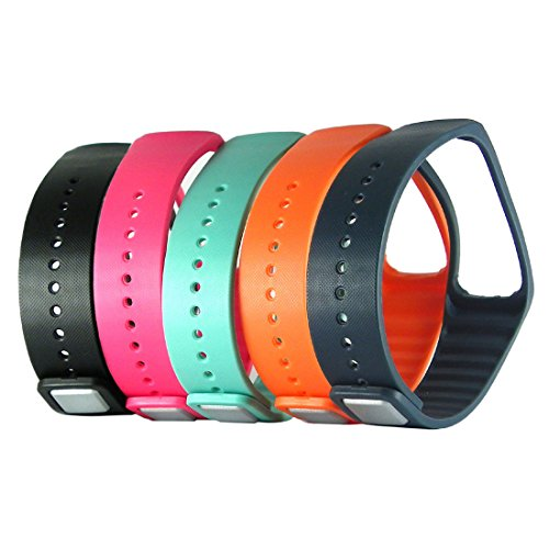 Replacement Wrist Band Strap Wristband with Metal Clasp for Samsung Galaxy Gear Fit 1 Gen Bracelet Smart Watch R350 ONLY - 5 Pack
