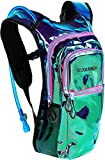 Sojourner Rave Hydration Pack Backpack – 2L Water Bladder Included for Festivals, Raves, Hiking, Biking, Climbing, Running and More (Medium) (Laser Holographic – Purple)