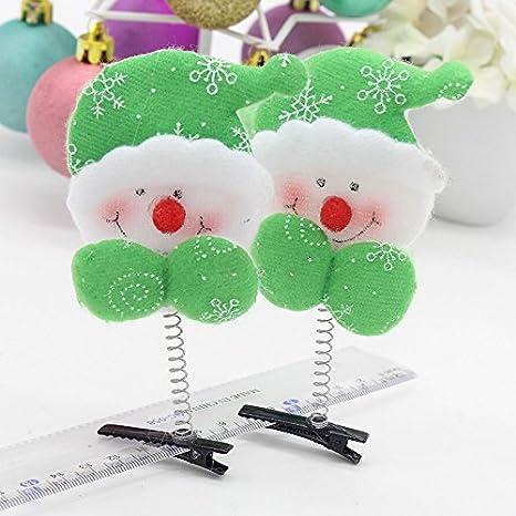 Dylandy 2 Pcs Hair Clip Hairpin for Christmas Gift Santa Claus Christmas Grass Head Hairpin Vintage Hairband Hair Accessories