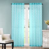 Heritage Kids Sheer Window Panel, Teal