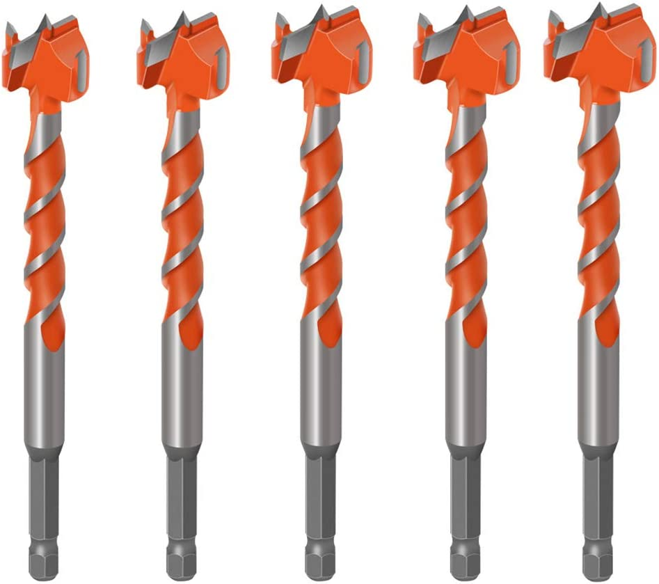Oyov2L 16//18//20//22//25mm Hole Opener Thread Lengthened Woodworking Drill Bit Tile Glass Hole Opener Home Supplies Widely Use