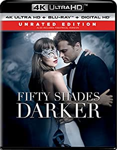 Cover Image for 'Fifty Shades Darker - Unrated Edition (4K Ultra HD + Blu-ray + Digital HD)'
